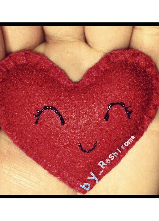 #feltro #felt #coração #heart #love #cute
