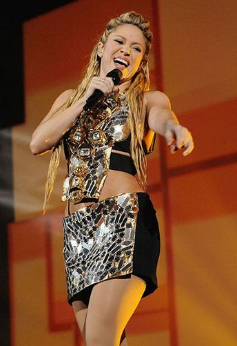 Shakirau0026#39;s 20 Hottest Stage Outfits | Latin Music | Pinterest | Photos Outfit and Stage outfits