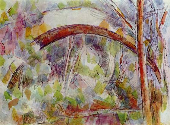 River at the bridge of the three sources by Paul Cezanne