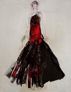 "Saatchi Art Artist Claudia Wimmer; Drawing, ""Rokoko Punk"" #art"