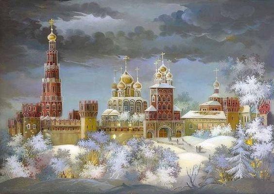 ЗИМНИЕ КАРТИНЫ В СКАЗОЧНОЙ ФЕДОСКИНСКОЙ МИНИАТЮРЕ.