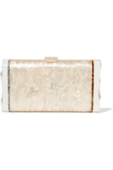 Edie Parker - Lara Backlit glittered acrylic box clutch