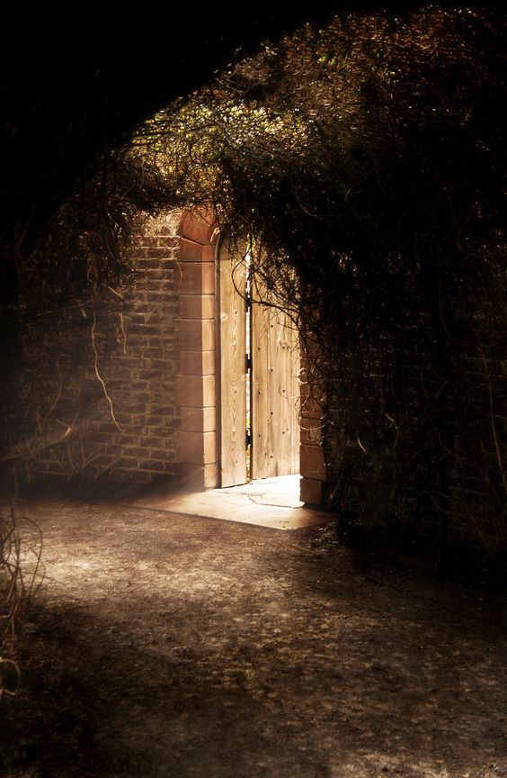 Nell wandered inside the walled garden that had been named by her father for the end-of-summer flowers inside... credit: iStock