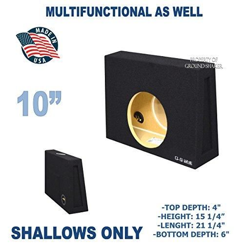 Black 10 Single Sealed Slim Shallow Mount Sub Box Fits Regular Cab Trucks Speaker Box Design Subwoofer Box Design Sub Box