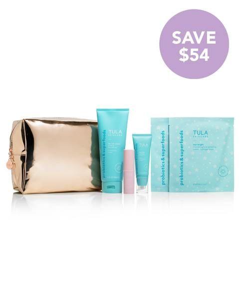Glow Getters 6 Piece Kit Tula Skincare Skin Care Kit Holiday Gift Sets Tula Skincare