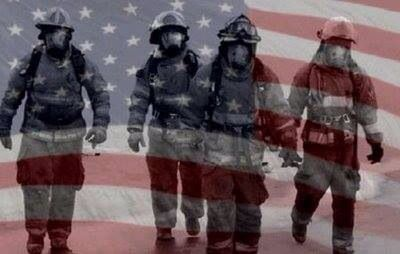 Image result for Firefighters American Flag