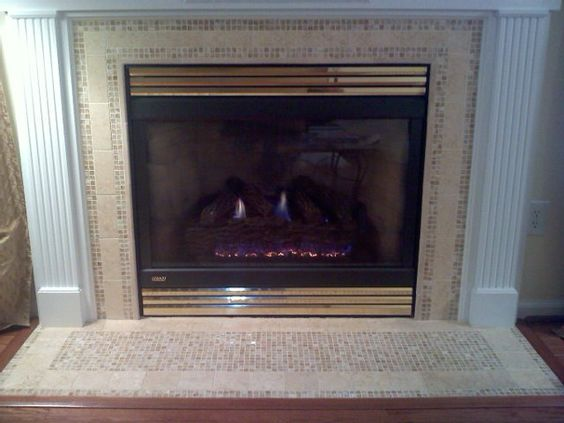 Fireplace Tiles Fireplaces And Mosaics On Pinterest