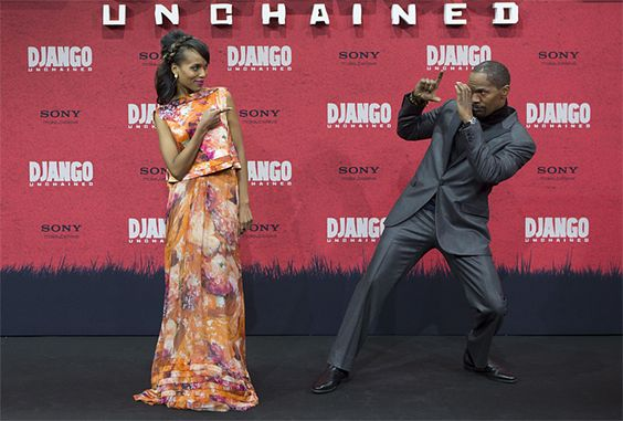 Jamie Foxx & Kerry Washington-Germany Django Unchained
