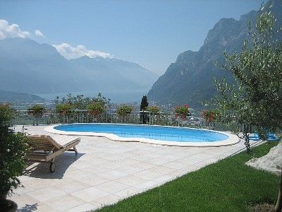 Our Italian Villa above Lago di Garda...can also be rented. Sleeps 9, private pool and 180 degree views of the lake, the mountains and the valley below. #Vacation #Places to go