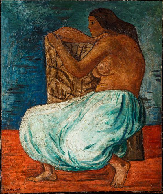 SZYMON MONDZAIN (1888 - 1979)  ODALISKA, 1922   olej, płótno / 47 x 39,5 cm