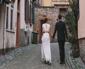 """Kaviar Gauche Hochzeitskleid Designerkleid """"Plaisir Lace"""" (Gr. 38) fehlerlos"""