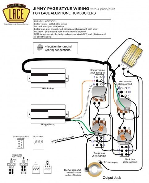 Lace Pickup Wiring Diagrams Acoustic Guitar Pickups Les Paul Jr Joe Bonamassa