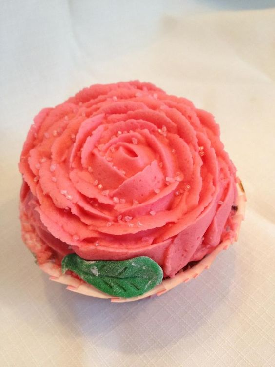 My Large Rose cupcakes.