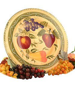 Amazon.com: Tuscan Collection Deluxe Hand-Painted Serving Platter: Kitchen & Dining