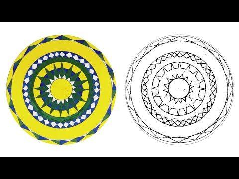 زخرفة سهلة زخرفة الماندالا Mandala Drawing Easy Youtube