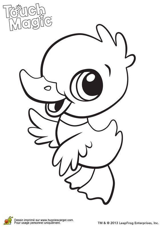 Un petit canard avec de grands yeux colorier - Canard a colorier ...