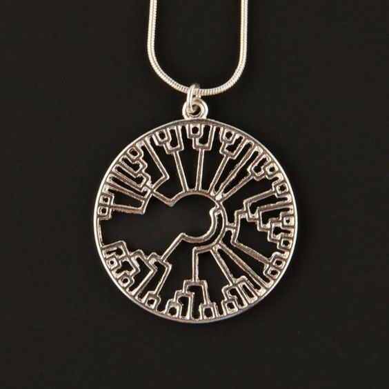 The Official I Love Science Store  | Phylogenetic Tree Circle Pendant http://www.ilovesciencestore.com/promos/phylogenetic-tree-circle-pendant.html