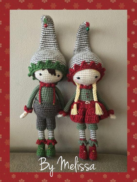 Christmas Elves Amigurumi : Christmas elves amigurumi Crochet Pinterest ...