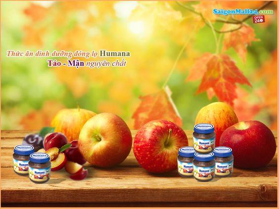 Thức ăn dinh dưỡng chế biến sẵn Humana táo-mận nguyên chất (125g): Không sử dụng chất bảo quản, chất làm đặc, không dùng chất tạo ngọt, phẩm màu, hương nhân tạo. Thành phần cấu tạo: táo nghiền, mận nghiền, nước.