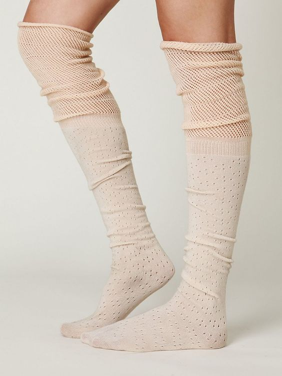Because you are never too old to feel pretty, and warm!  Free People Mesh Ballet Tall Sock, $24.00