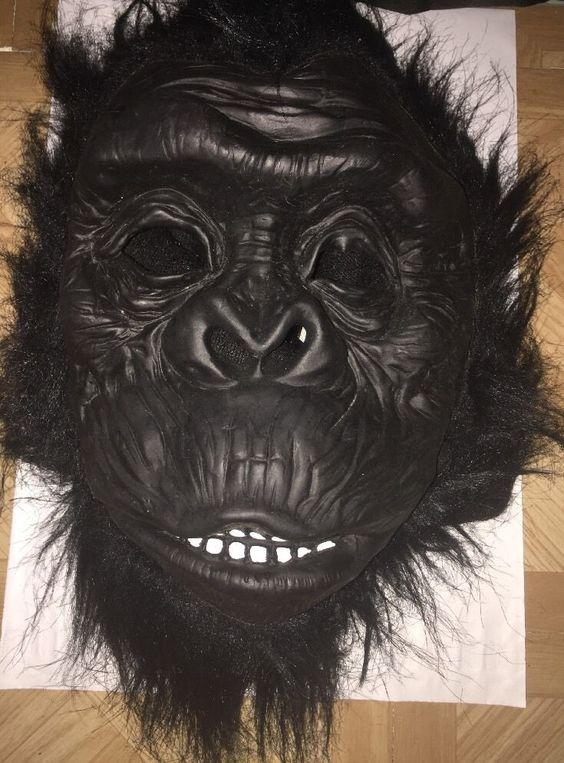 Gorilla Latex Full Mask Costume Adult Teen OSFA Ape Scary Realistic Halloween | eBay