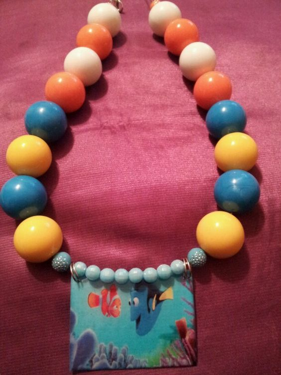 Finding nemo chunky necklace