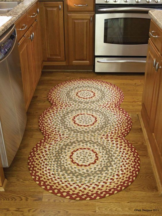Mill Village Braided Rug 100 Cotton 30 X 72 Oval Rug Runner By Park Designs Parkdesigns Farmhousecountrycolonialpr Country Rugs Braided Rug Diy Rug Runner
