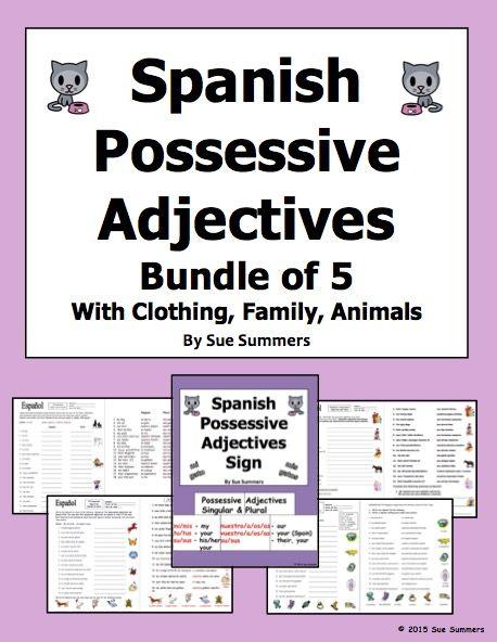 worksheets spanish and signs on pinterest. Black Bedroom Furniture Sets. Home Design Ideas