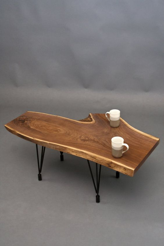 Other reclaimed coffee tables and natural on pinterest for Interesting table legs