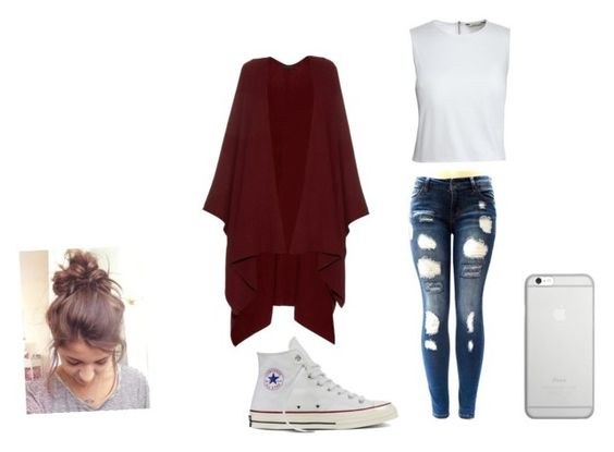 """Lazy day"" by theheartknight ❤ liked on Polyvore featuring Canvas by Lands' End, The Row, Converse and Native Union"
