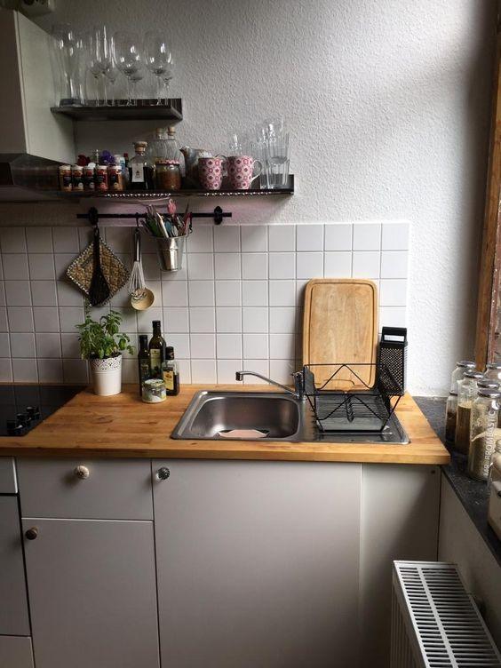 Schöne helle Altbauküche in Stuttgart #Altbau #Küche #kitchen - u küchen bilder