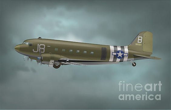 C-47 enroute to a Normandy drop zone.