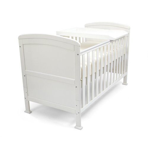 Ashly Cot Bed With Mattress Honeybee Nursery Colour White