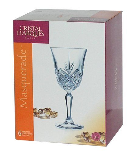 Arc International Cristal d'Arques Masquerade Diamax Wine Glass, 6-Ounce, Set of 6 by Blockhouse Arc. $50.95. Ultra clear glass. Made from diamax (a revolutionary new ultra clear lead-free glass). 100-percent lead free. Six masquerade diamax  wine 6-ounce. The essence of cristal d'Arques Paris, is a clever blend of creativity, pleasure, tradition, quality, French elegance, gift appeal all this at affordable prices, as always. Every day luxury, affordable beauty : this...