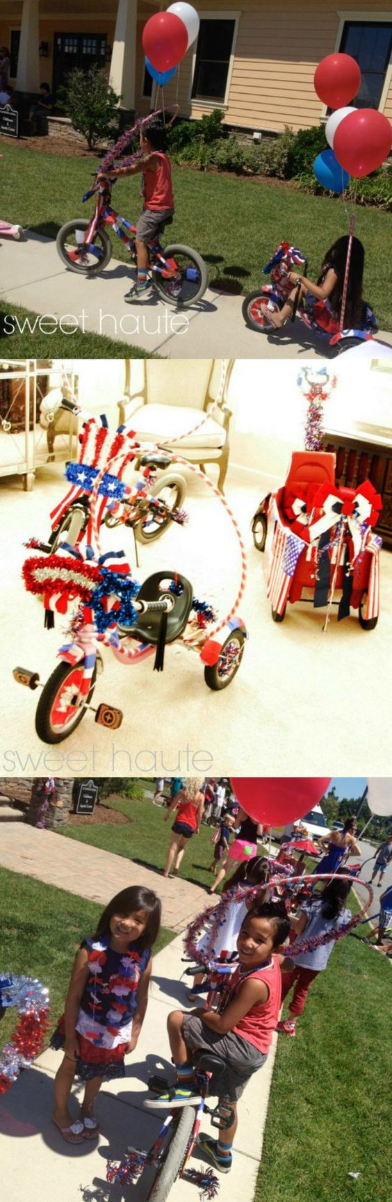 Patriotic Parade Bikes Wagon DIY Project- SWEET HAUTE parade ideas 4th of July Fourth of July
