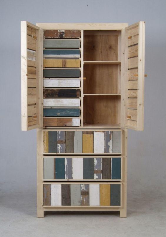 Colorful Scrap Wood Furniture