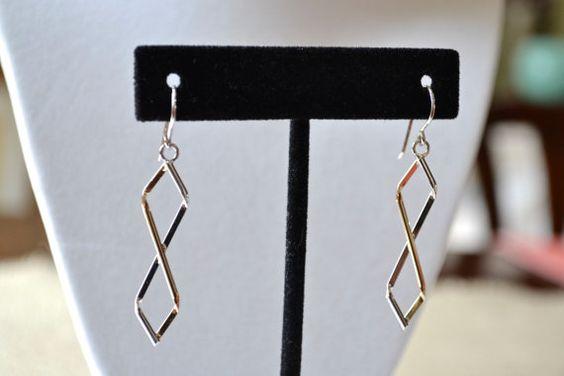 Vintage Earrings Sterling Silver Earrings Dangle by talkOfThetown