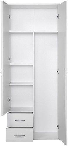 Amazon.de: PROCONTOUR Mehrzweckschrank, 2 Türen +2 Schubkästen weiß