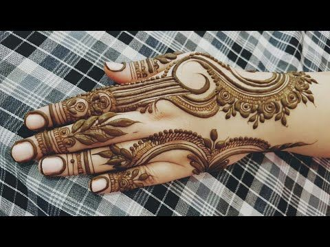 Dubai Henna Design For Eid 2018 Heena Vahid Youtube Mehndi
