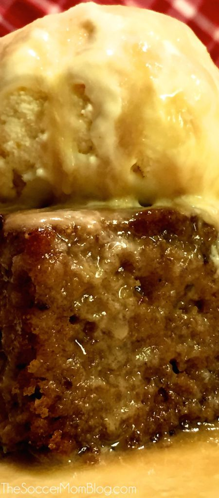 The BEST Sticky Toffee Pudding Cake ever! Maybe the best cake period! Can be made gluten free and lactose free! - The Soccer Mom Blog
