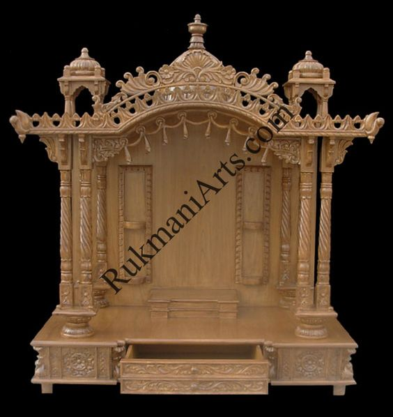 Wood temple mandir designs for home with prices house for Home mandir designs marble