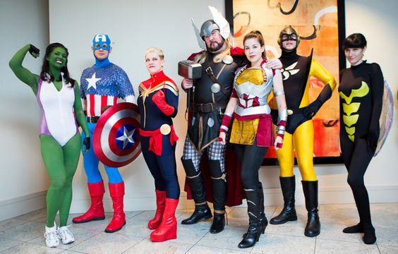 """""""The Avengers"""" pose for MTV Geek at Dragon*Con 2012"""