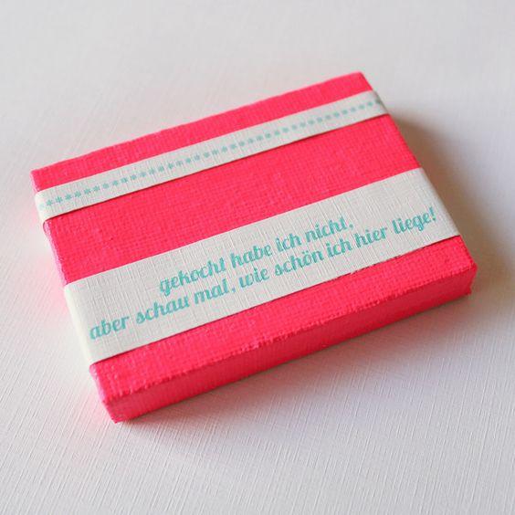 GEKOCHT HABE ICH NICHT / Mini-Leinwand, Geschenk
