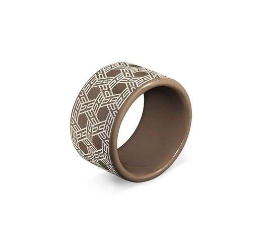 So Hermes Bracelet in taupe lacquered wood
