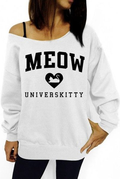 You haven't graduated yet, well, let's face it, maybe you won't get your university diploma without a Meow Universkitty Sweatshirt...