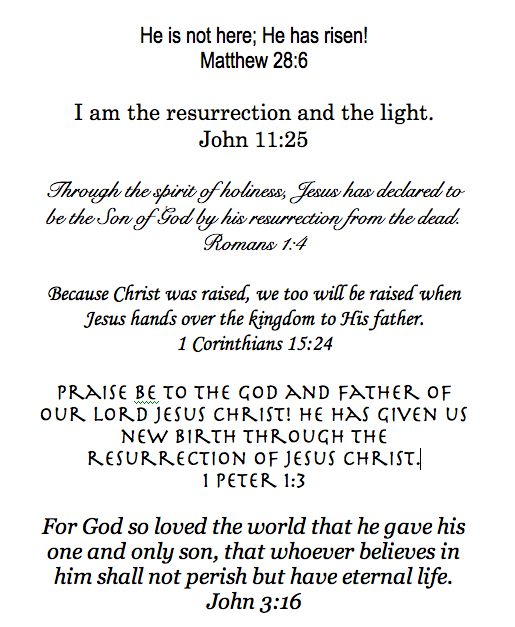 Quotes From The Bible About Easter: Christian / Bible Quotes
