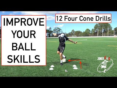 12 Four Cone Drills To Do At Home Lockdown Training Joner 1on1 Football Training Youtube In 2020 Football Training Cone Drills Drill
