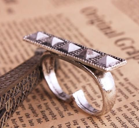 Vintage Square Knuckle Ring - Rings - Jewelry Free shipping Worldwide.