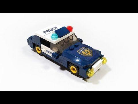 Lego Police Car First Mission Lego Tutorial Creator For Kids Youtube Mobil Polisi Lego City Lego