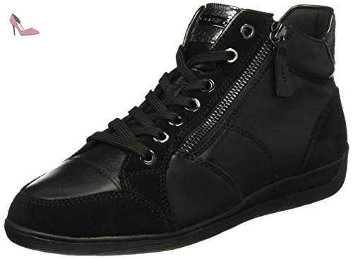 D Eleni A, Sneakers Hautes Femme, Marron (Chestnut), 41 EUGeox